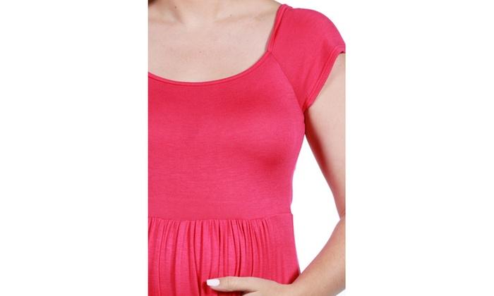 24 7 Comfort Apparel Lillian Maternity Dress Groupon