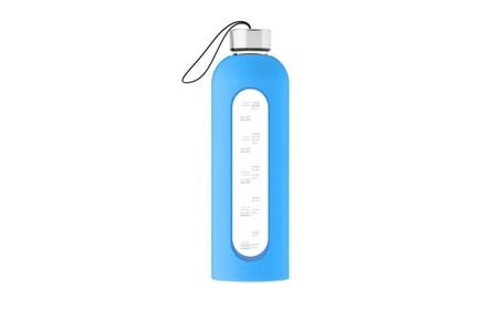 Glass Water Bottle Silicone sleeve 32 oz. cf9e8698-f2b8-47d7-bb1f-ae49976c40e2
