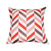 """Loom and Mill P0094-2121P 21"""" x 21"""" Coral Chevron Decorative Pillow"""