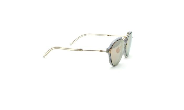 ... Christian Dior Eclat  S Unisex Round Sunglasses Mirrored ( Gbz 0j) ... 134d51870aa