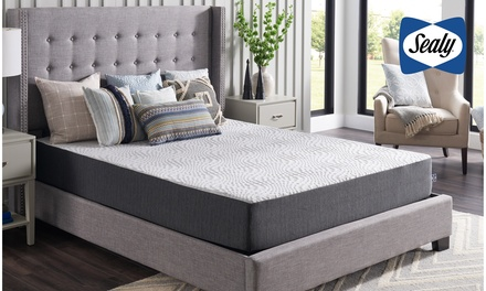 Sealy 10-Inch Hybrid Bed in a Box, Medium Firm