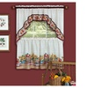"Farmer's Market Tier Pair 36""x57"" and Swag 30""x57"" Set- Multi Color"