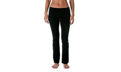Active Womens Foldover Bootleg Yoga Pants 8150 4a4014fc-f3ff-4e92-b422-3162ad0ccb11