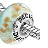 Sterling Silver 'Cottage in Maine' Murano-style Glass Bead
