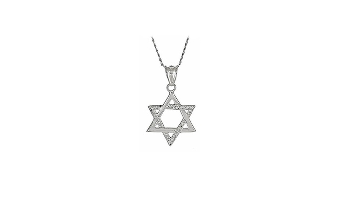 Up to 76 off on 925 sterling silver magen da groupon goods 925 sterling silver magen david jewish star of david pendant w chain aloadofball Choice Image