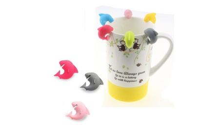 6pcs Silicone Mini Shark Shape Tea Bag Holders Cup Mug Identify Marker adce083a-a569-41a7-a750-e31b60b2b5cc