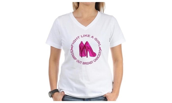 SILFA Outlet: CafePress Fight Like A Girl Breast Cancer Womens T-shirt