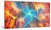 Electric Fire Metal Wall Art 28x12