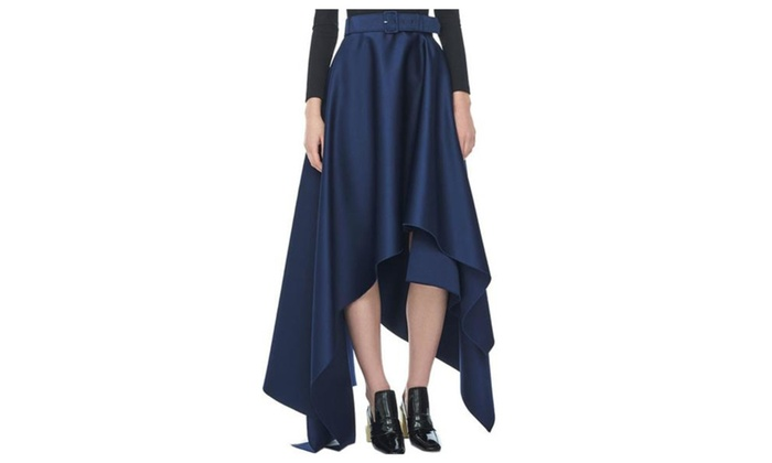 Women's High Rise Pullover Solid Fashion A Line Skirts