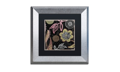 Color Bakery 'Daisy Cartwheels II' Matted Silver Framed Art 63df09f1-a7ae-4c51-9416-2ad660e9cb23