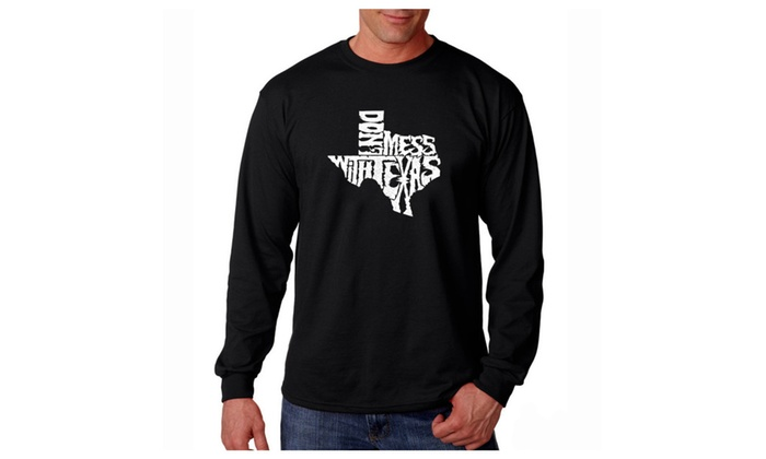 Men's Long Sleeve T-shirt - DONT MESS WITH TEXAS