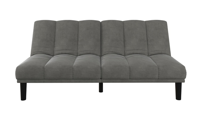 Multiple Colors Mainstays Channel Cushion Futon