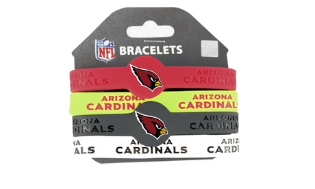 NFL Rubber Wrist Bands (4 Pack)