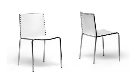Gridley White Plastic Dining Chair (Set of 2)