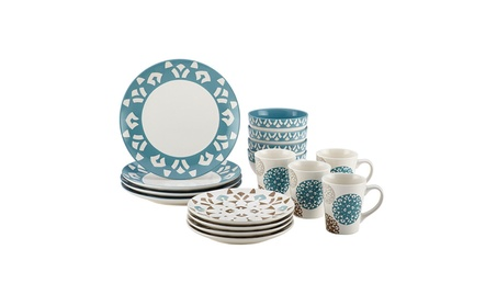 Rachael Ray Pendulum 16-Piece Stoneware Dinnerware Set 88a901a3-331f-4e78-83ae-93f88d5fb08e