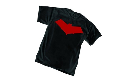 Red Hood Symbol Mens Black T-Shirt 2824e306-0c2d-47f1-999a-80711a0c25ea