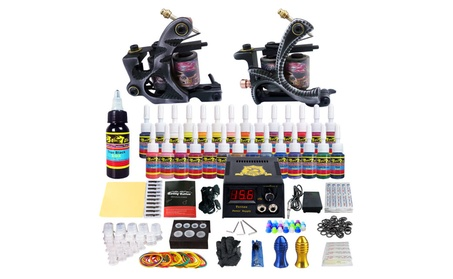 Solong Complete Tattoo Kit 2Pro Machines Shader Liner Power Box Ink 60f24dc1-5d3d-4616-b652-2102e8dc783d