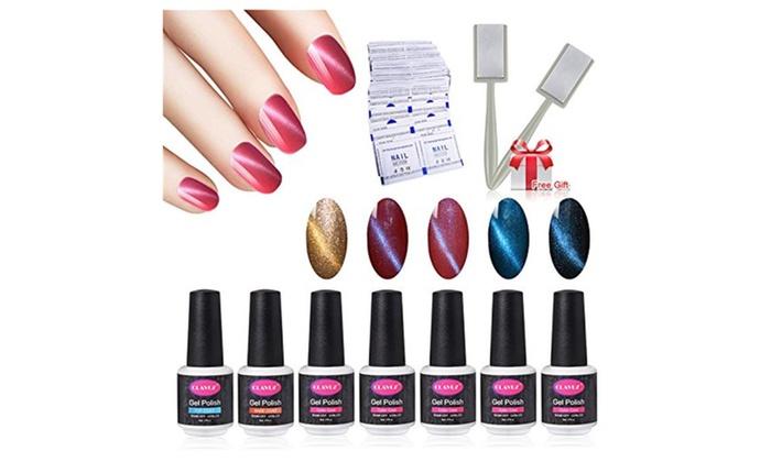 Magnetic Gel Nail Polish Set Soak Off Uv Led Nail Art Kit Gift Set