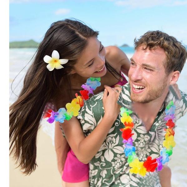 36 Counts Joyin Toy Tropical Hawaiian Luau Flower Lei Party Favors 3 Dozen