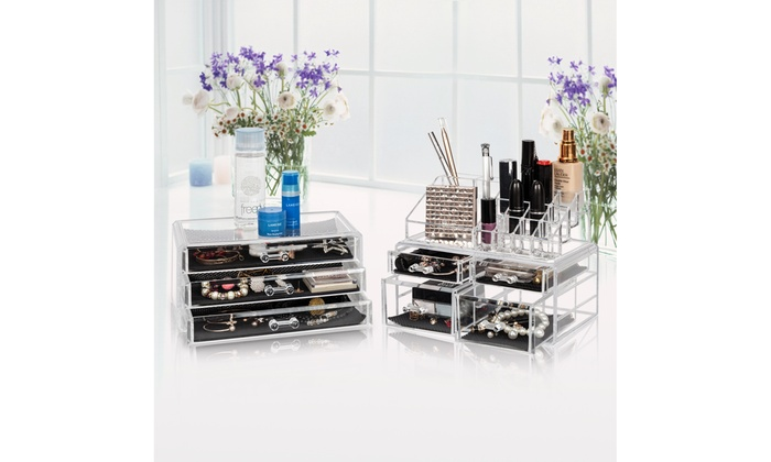 3a6feed2af70 Up To 63% Off on Acrylic Cosmetic Organizer Ma... | Groupon Goods
