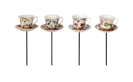 Best For Birds BFBFB241 Tea cup with Saucer Stake Feeder 4cc14d91-5fd1-45cb-98b9-285f0c30c1ff