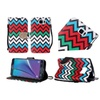 Insten Flip Leather Fabric Case For Samsung Galaxy Note 5 Pink/blue
