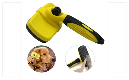 Pet Grooming Self-Cleaning Slicker Brush for Shedding Dogs and Cats 22c9ed88-109a-442e-9371-19648aa3b2de