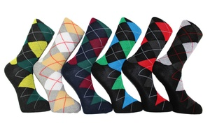 Men's Argyle Dress Socks (6-Pack)