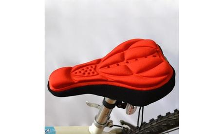 3D Padded Bike Seat - Black Blue Orange and Red