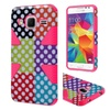 Insten Polka Dots Hybrid Case For Samsung Galaxy Core Prime Colorful