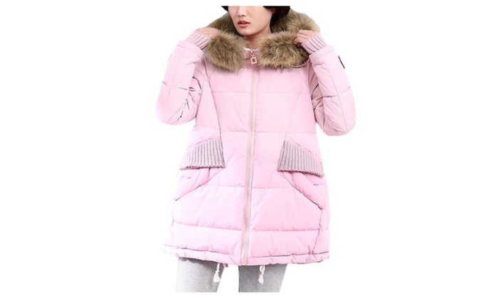 Women's Solid Insulation Fashion Hooded Slim Fit Cotton Coats