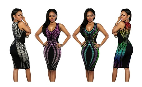 Floerns Women's Sexy Sleeveless Stripe Print Dresses 9dda9231-2021-4807-be4d-2bd7de261690
