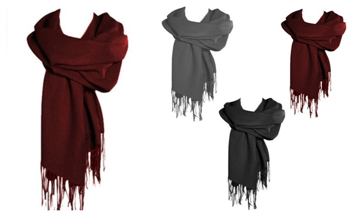 Assorted Colors Luxurious Pashmina Scarves - 3-Pack