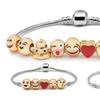 Emoji Charm Bracelet in 18K White Gold Plating