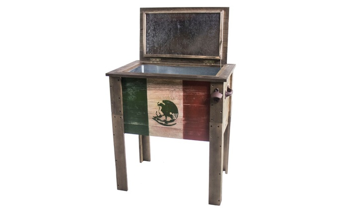 Up To 25 Off On Outdoor Wooden Flag Cooler Groupon Goods