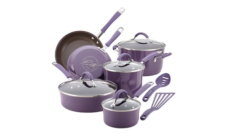 Rachael Ray Cucina Hard Porcelain Enamel Nonstick Cookware Set 0979c5bd-de67-493d-b738-33ee448764ec