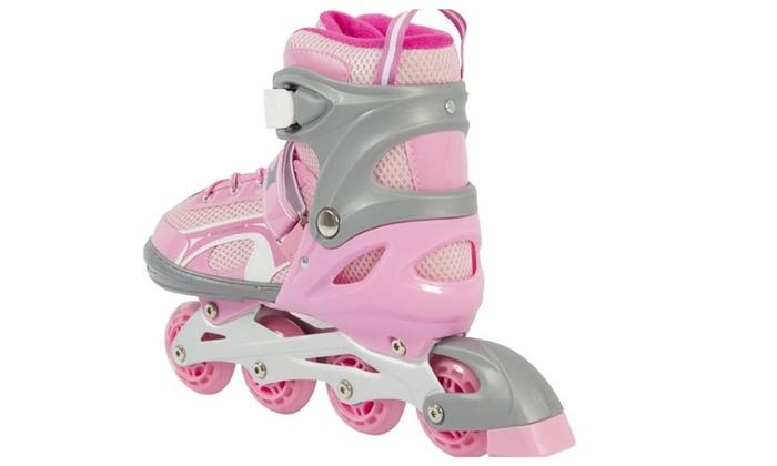 204d1d15e44 BCP Adjustable Kid Inline Skates Roller Blades Outdoor Sport w/ Light