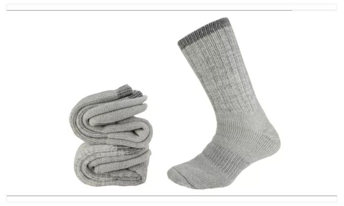 4 Pair Men's Extra Heavy Weight Wool Socks