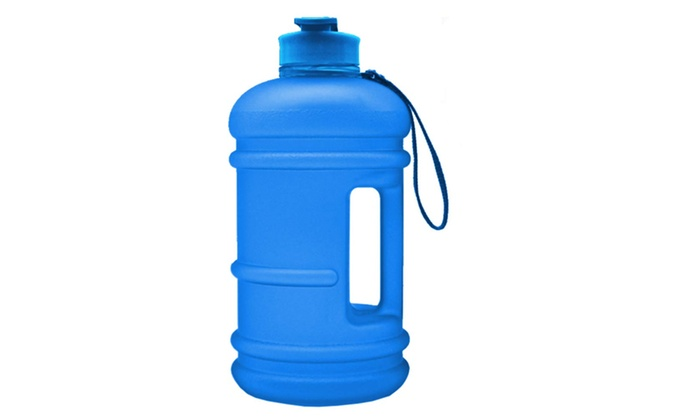 2.2L Sport Water Bottle Capacity Leakproof Giant Container BPA Carrying Loop gym