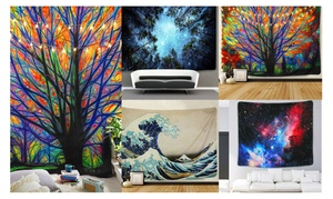 Galaxy Psychedelic Mandala Tapestry Wall Hanging Tapestry Bedspread