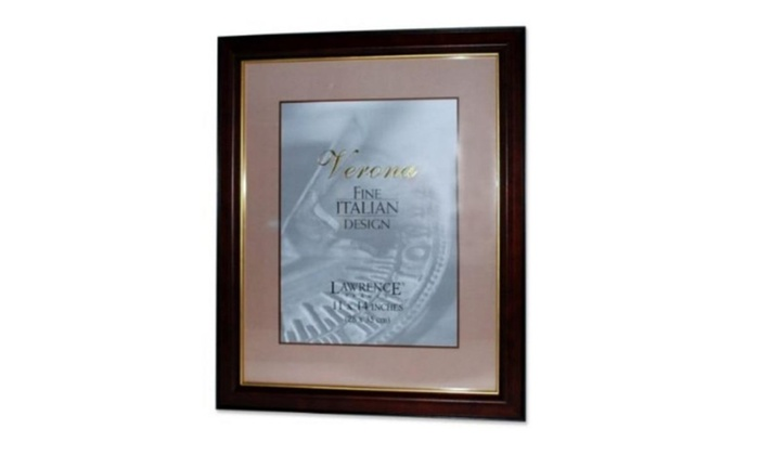 Lawrence Frames 41611 Walnut Black Wood Picture Frame 11 X 14 In
