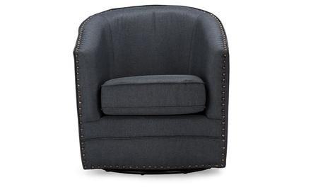 Porter Classic Upholstered Swivel Tub Chair