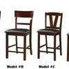 Set of 2 Counter Height Stools Dining Chairs -24'' Seat High Bar Stool