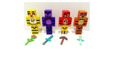 4 Minecraft Five Nights at Freddys Bonnie Chica Foxy Fazbear FNAF dc82b93f-1331-4478-8ad0-f100eba4f8ca
