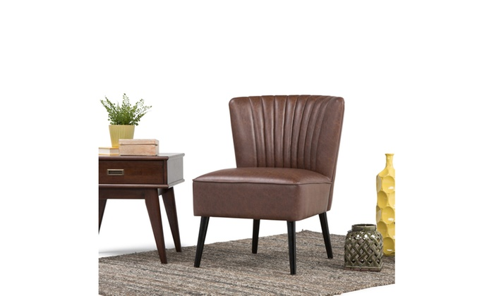 Tremendous Closeout Hollyford Air Leather Accent Chair In Distressed Brown Onthecornerstone Fun Painted Chair Ideas Images Onthecornerstoneorg