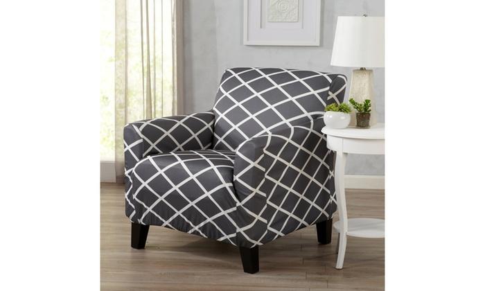 Stupendous Tori Form Fitting Diamond Patterned Printed Furniture Ibusinesslaw Wood Chair Design Ideas Ibusinesslaworg