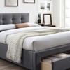 Brandy Upholstered Queen-Size Storage Platform Bed