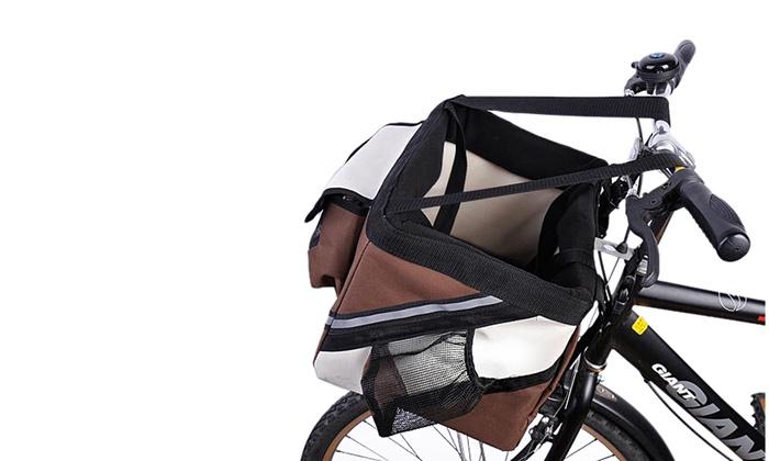 6c92a6706319 Pet Cat Dog Bike Basket Bag Travel Safety Belt Front Bicycle Carrier ...