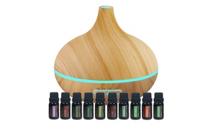 Pure Daily Care Ultrasonic Aromatherapy Diffuser with Essential Oils