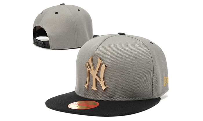 572b45ba54ed2 ... discount code for new york yankees metal gold logo adjustable hat 07b68  6d96a